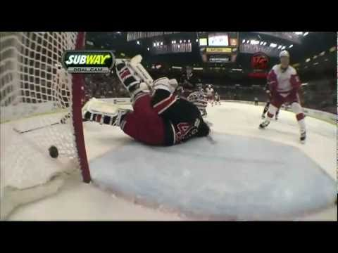 Jiri Hudler Goal, Detroit Red Wings Tic Tac Toe Passing 2/7/11 @ NY Rangers