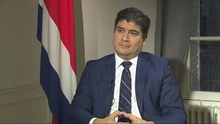Costa Rica's president on climate change, migration and Nicaragua