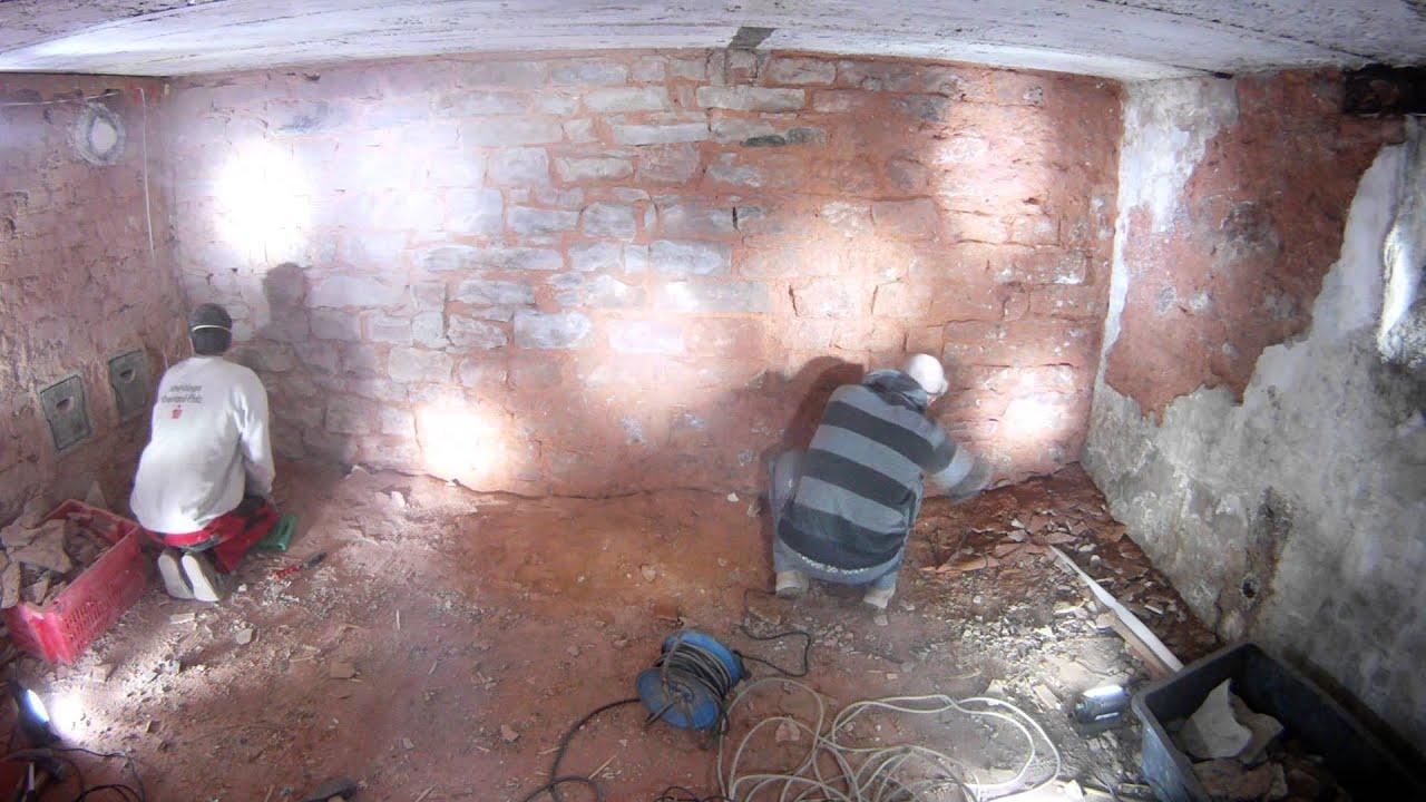 2013 04 05 Kg Zimmer Stra 223 Enseite Bruchstein Kellerwand