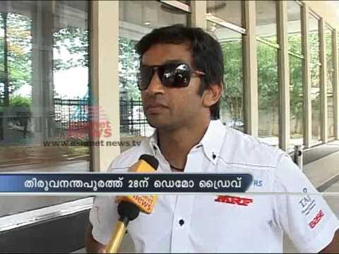 Exclusive Interview: Narain Karthikeyan in Thiruvananthapuram for Demo Drive