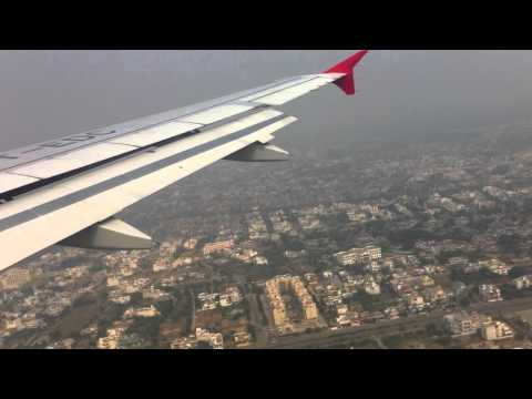 Air India Airbus A320 Landing at Lucknow Airport