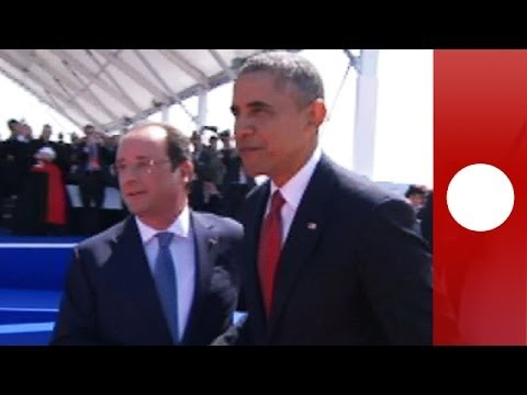 D-Day International ceremony: Obama, Putin, Elizabeth II, Hollande in Normandy (recorded live feed)