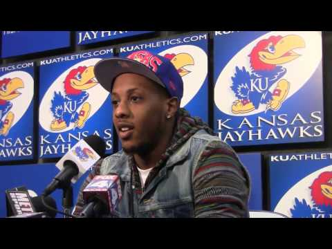 Former Kansas PG Mario Chalmers met with the media