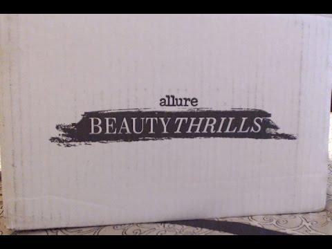 Allure Beauty Thrills Winter 2015 Unboxing