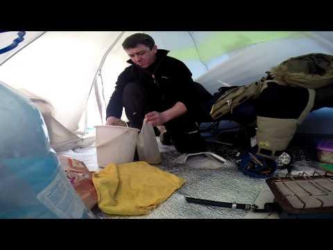 рыбалка в палатке ютуб