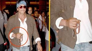 why Shahrukh Khan spotted with prayer beeds in his hand ?