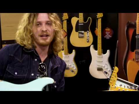 Justin Derrico, Guitarist for Pink, at LsL Instruments NAMM