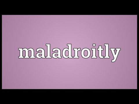 Header of maladroitly