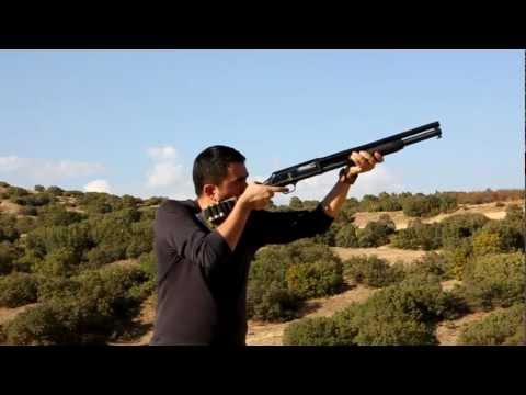 sarsılmaz cobra pompalı tüfek.. slow motion..