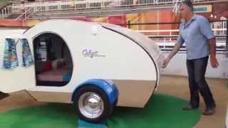 Gidget Retro Teardrop Camper set up in under a minute....here