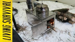 Seek Outside Titanium Wood Stove First Burn
