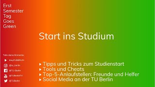 Erstsemestertag 2019: Start ins Studium