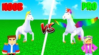 Minecraft NOOB VS PRO : UNICORN in Minecraft!