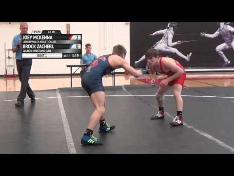 FS 60 KG - Final Trials Match #1 - Joey McKenna (LVAC) vs. Brock Zacherl (Clarion WC)