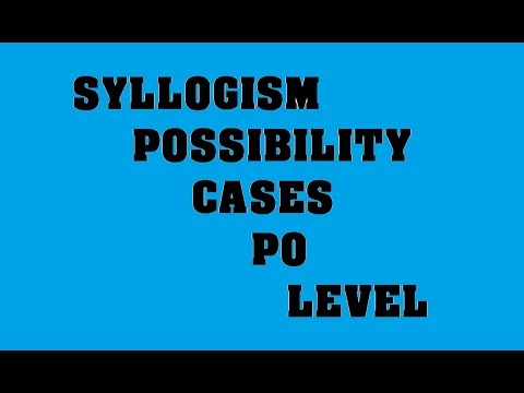 Syllogism Possibility cases
