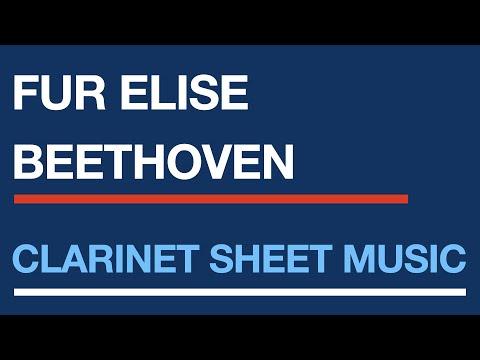 Fur Elise - Easy clarinet sheet music solo - YouTube