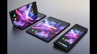 Samsung Galaxy Fold smartphone with a flexible screen, Galaxy F