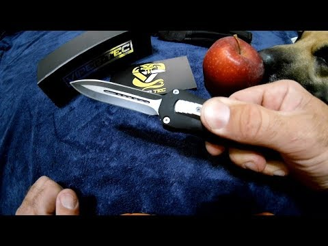 Viper-Tec Dual Action Reaper OTF Switchblade, Automatic Knife unboxing and demo