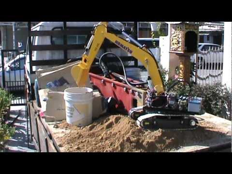 KOMATSU RC Excavator - First full hydraulic test