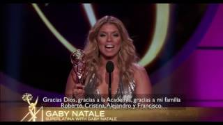Gaby Natale Wins Best Spanish TV Talent EMMY for second year in a row #DiversityIsBeautiful