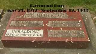 (Perry Mason) Raymond Burr: Famous Hollywood Canadian Celebrity Grave (HD)