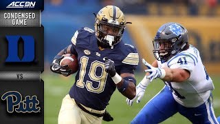 Duke vs. Pittsburgh Condensed Game | 2018 ACC Football