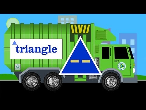 Learn Shapes Garbage Truck - Learning Garbage Trucks for Kids