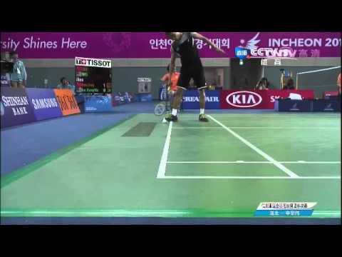 17th Asian games team SF MS Chen Long 【VS】Lee chong wei