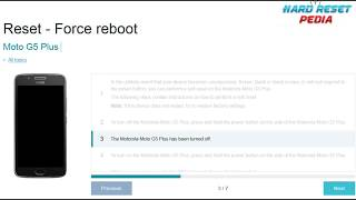 ☑️ Moto G5 Plus Reset Force Reboot