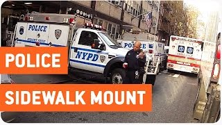 NYPD Escorts Motorcyclist   Walk The Line
