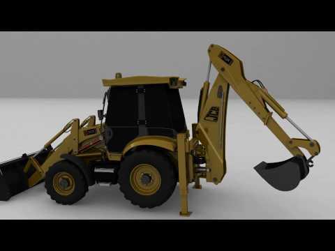 JCB 3cx Maya 3d model