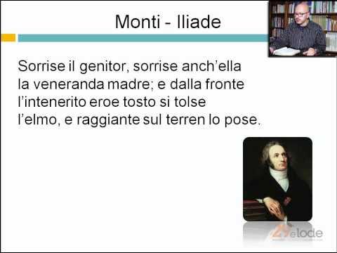 Monti - Iliade - Videolezioni di letteratura dell'800