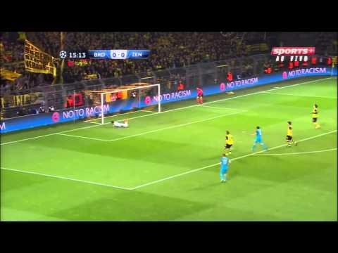 Hulk Amazing Goal Borussia Dortmund 1-2 Zenit 19-03-2014
