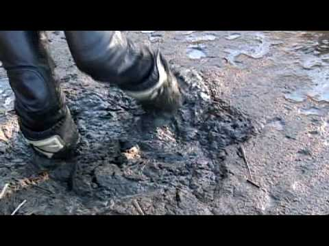 mx boots mud stuck. 1