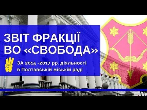 """Фракція ВО """"Свобода"""" у Полтавській міськраді: звіт про свою роботу протягом 2015-17 рр"""