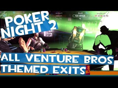 Poker Night 2 - All Venture Bros Themed Special Elimination Animations