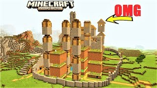Minecraft PE - SKYCRAPER VILLAGER CITY | MCPE MAP