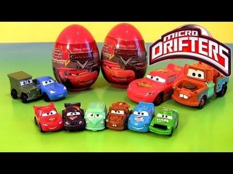 Micro Drifters Easter Egg Holiday Edition Cars 2 Toy Surprise 2013 Buildable Toys Disney Pixar Eggs