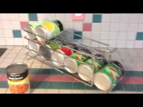 I10direct Fifo Food Storage Can Organizer Rotate Rotation