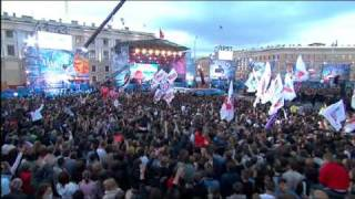 "Moving Heroes ""Crazy"" live (Palace Square St. Petersburg 2009)"