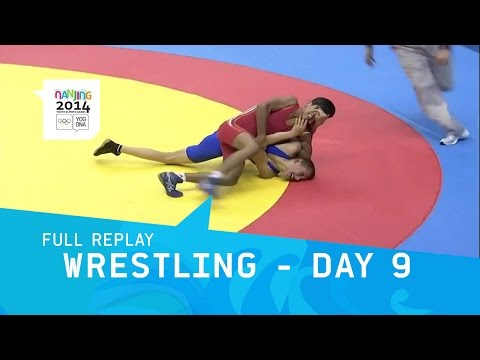 Wrestling - Day 9 Finals Greco-Roman | Full Replay | Nanjing 2014 Youth Olympic Games