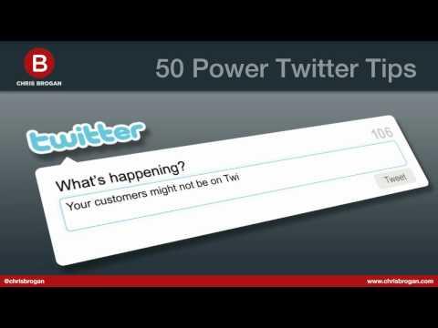 50 Twitter Power Tips