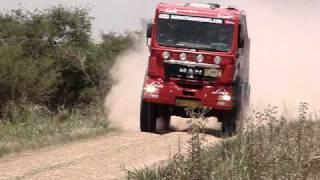 MAN Truck Dakar 2009 High speed pass by
