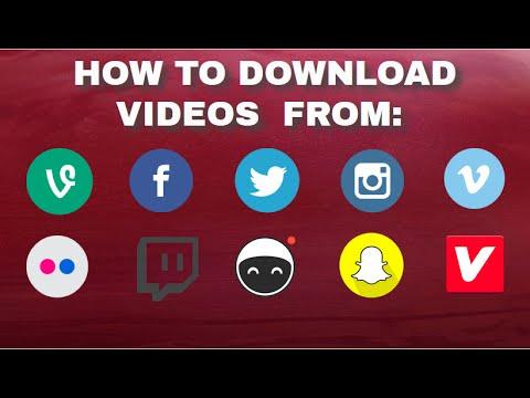 How to download videos from: Instagram, vidme, vimeo, vevo ,flicker ,vevo, Facebook, twitch.......
