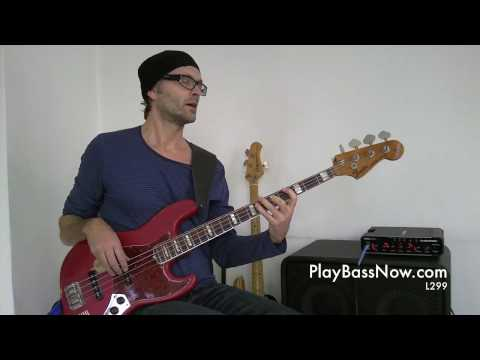 Hip Cm7 bass lick using the Bb Major pentatonic scale