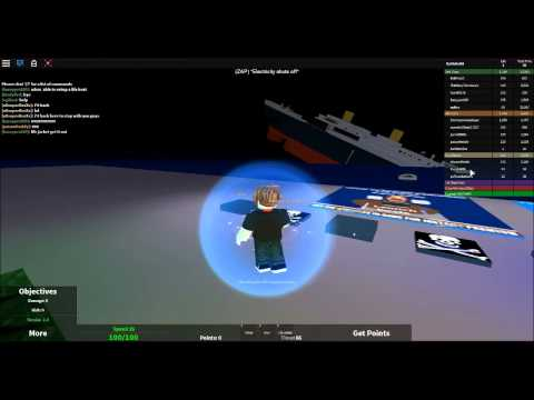 Roblox Gameplay - Escape from the Sinking Titanic !
