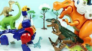 공룡장난감 티라노사우루스 vs 브라키오사우루스 공룡섬의 결투 Dinosaur Toy Tyrannosaurus and Brachiosaurus for kids