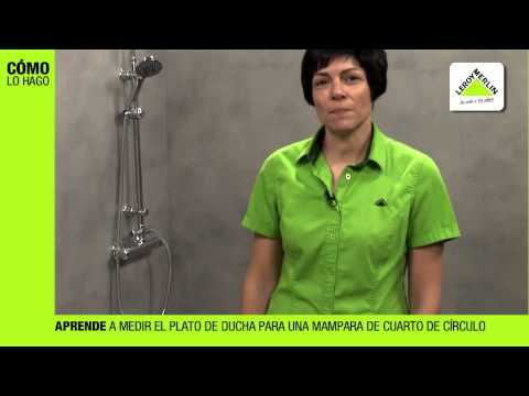 Cómo medir un plato de ducha para colocar una mampara · LEROY MERLIN