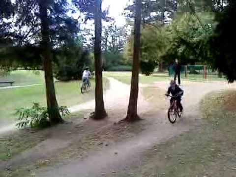Kieran's Bike Jump At Russel Park (nip Slip) video