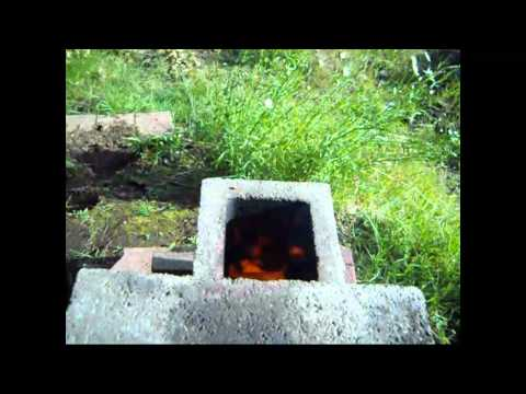 Survival? Cinder Block Rocket Stove review with Jimbo Jitsu at the Farmhouse